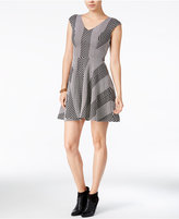 Bar III Textured Fit & Flare Dress, Only at Macy's