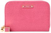 Fendi Short Leather Zip Around Wallet