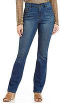 Code Bleu Chelsea Slimming Straight Leg Embroidered Back-Pocket Jeans