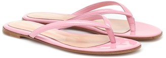 Gianvito Rossi Calypso patent-leather thong sandals