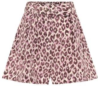 Zimmermann Super Eight high-rise silk shorts