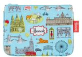 Harrods London Map Cosmetic Bag