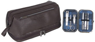 Ben Sherman Faux Leather 6-Piece Manicure Travel Set