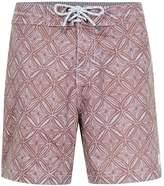 Globe Dark Pink Geo Print Shorts*