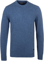 Barbour Dark Denim Patch Crew Neck Sweater
