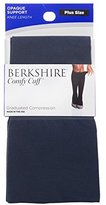 Berkshire Women's Plus Size Comfy Cuff Opaque Compression Trouser Sock