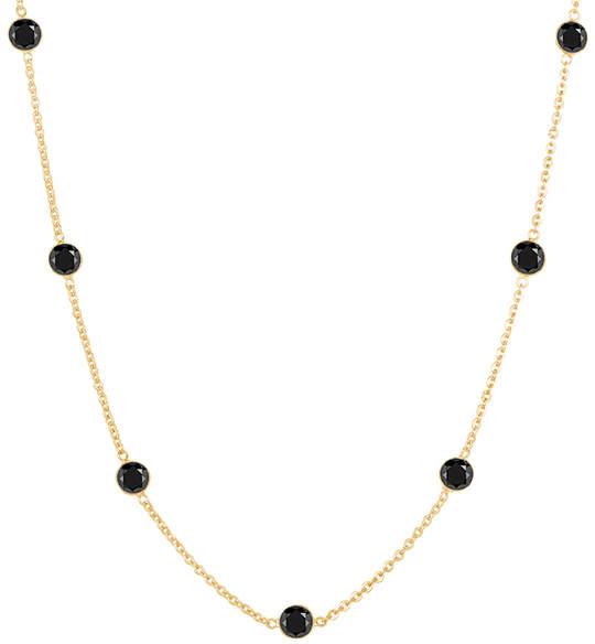 Black Diamond She Adorns & Gold Station Necklace