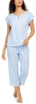 Charter Club Cotton Cropped Pajama Pants Set, Created for Macy's