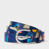 Paul Smith Women's 'Marble' Print Leather Belt
