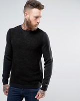 Asos Knitted Sweatshirt In Textured Yarn