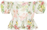 Brock Collection Exclusive to Mytheresa Oarsman floral silk-blend top