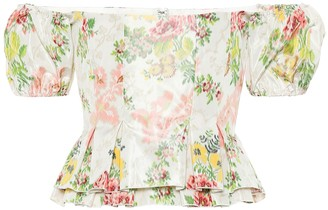Brock Collection Exclusive to Mytheresa a Oarsman floral silk-blend top