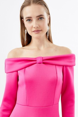 Coast Scuba Bow Bardot Dress