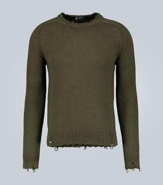 Saint Laurent Destroyed cotton knit sweater