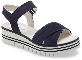 Gabor Crisscross Ankle Strap Sandal