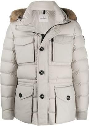 Moncler Augert padded fur-trimmed hood coat
