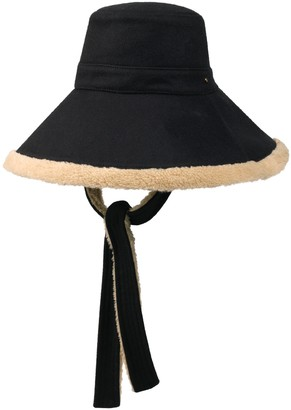 Gucci Wool and eco fur wide brim hat