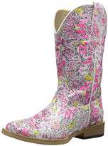 Roper Glitter Swirl Square Toe Cowgirl Boot (Toddler/Little Kid),5 M US Toddler