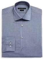 John Varvatos Textured Micro Gingham Check Slim Fit Dress Shirt