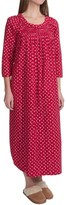 Carole Hochman Holiday Landscape Flannel Nightgown - Long Sleeve (For Women)