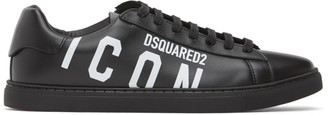 DSQUARED2 Black and White Icon New Tennis Sneakers