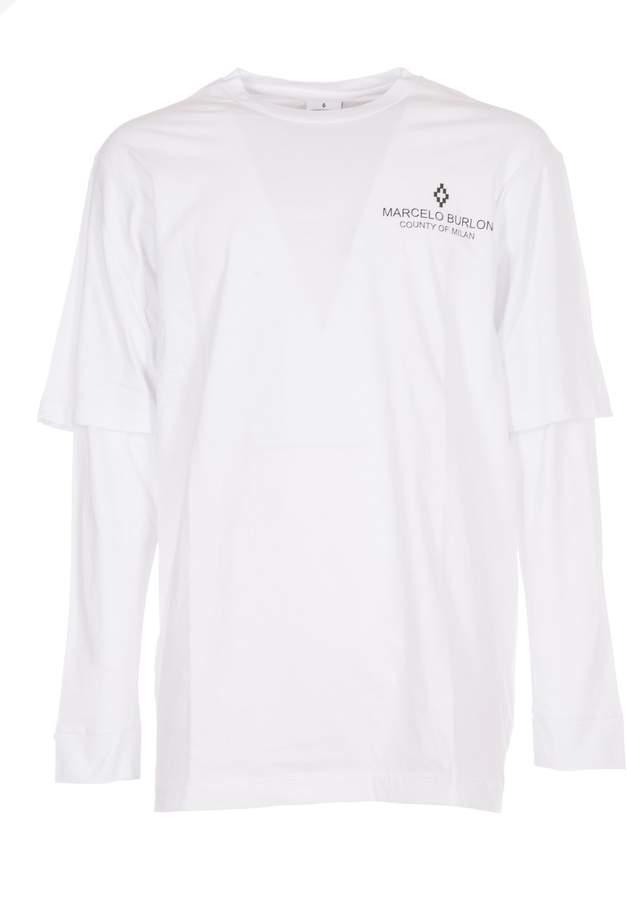 Marcelo Burlon County of Milan Logo Print Layered T-shirt