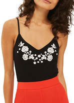 Topshop PETITE Embroidered Bodysuit