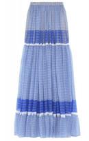 Stella McCartney Elsa Maxi Skirt in Petrol Blue