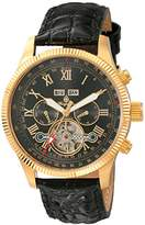 Burgmeister Men's Automatic Watch with Black Dial Analogue Display and Black Leather Bracelet BM330-222