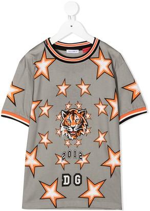 Dolce & Gabbana Kids Star Print Football Shirt