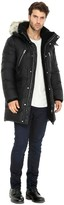 Soia & Kyo DAVY Hooded down parka with removable fur trim in Black