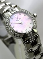 Concord La Scala Mother of Pearl Diamond Bezel Diamond Lugs Diamond Hour Markers Sapphire Crystal Stainless-steel Swiss Women's Watch