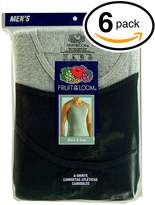 Fruit of the Loom Men's 6Pack Black & Grey A Shirts Tank Tops Undershirts XL