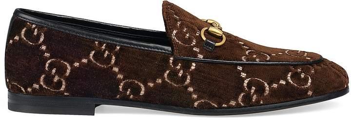 Gucci Women's New Jordaan Velvet Loafers