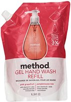Method Products Gel Hand Wash Refill, 34oz, Pink Grapefruit Scent, Plastic Pouch