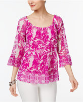 INC International Concepts Flounce-Hem Peasant Top, Only at Macy's
