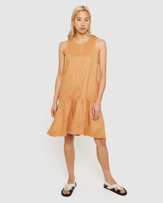 Jag Drop Waist Linen Dress