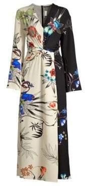 Etro Women's Tropical Print Maxi Dress - White - Size 40 (4)
