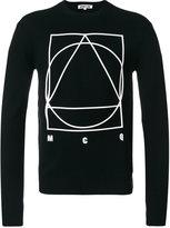 McQ by Alexander McQueen long sleeved motif sweater - men - Cashmere/Wool - S