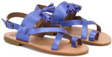Pépé 'Salvador Viola' glitter sandals - kids - Goat Skin/Leather/rubber - 26