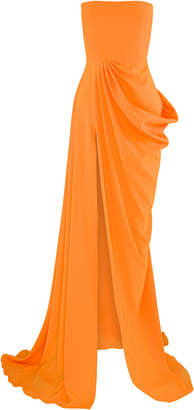 Alex Perry Reed Draped Crepe Gown