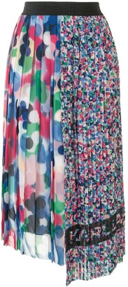 Karl Lagerfeld Paris Asymmetric Pleated Skirt
