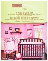 NoJo Simply Baby Hugs & Kisses 4-Piece Crib Bedding Set by Girl by