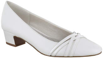 Easy Street Shoes Womens Wallis Pumps Round Toe Block Heel