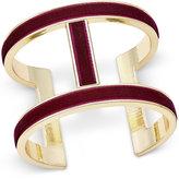 INC International Concepts Gold-Tone Velvet Open Cuff Bracelet, Only at Macy's