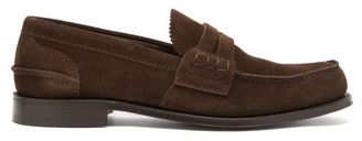 Church's Pembrey Suede Penny Loafers - Mens - Brown