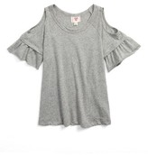 Hip Girl's Flutter Sleeve Cold Shoulder Tee