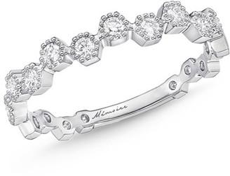 Memoire Stackables 18k White Gold Scattered Diamond Ring