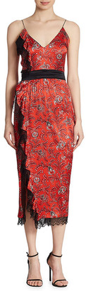 Cinq à Sept Petra Silk Midi Dress