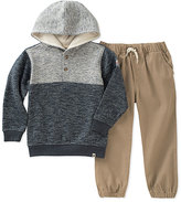 Lucky Brand Gray Marled Hoodie & Khaki Sweatpants - Infant, Toddler & Boys